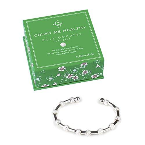 Golf Goddess Stroke Counter Bracelet - Silver (Womens Golf Counter)