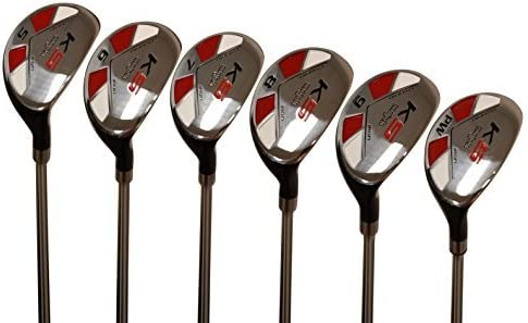 Majek Men s Golf All Hybrid Partial Set, which Includes 5, 6, 7, 8, 9, PW Senior Flex Right Handed New Utility A Flex Club