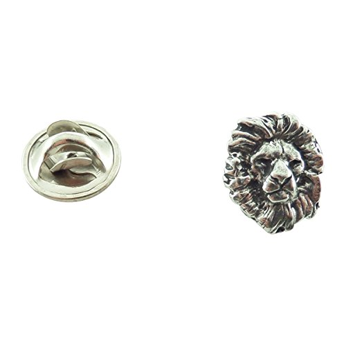 Creative Pewter Designs, Pewter Lion Head Mini Pin, Antiqued Finish, M102MP by Creative Pewter Designs (Image #1)