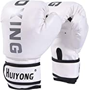 HUINING Kids Boxing Gloves, Punch Mitts MMA Gloves PU Cartoon Sparring Dajn Training Gloves, 4 Oz, for Age 3-1