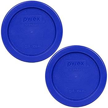 Pyrex 7202-PC Round 1 Cup Storage Lid for Glass Bowls (2, Cobalt Blue)