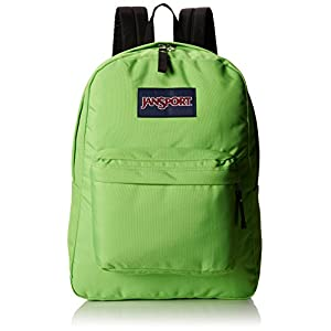 "JanSport Superbreak Backpack - Zap Green / 16.7""H x 13""W x 8.5""D"