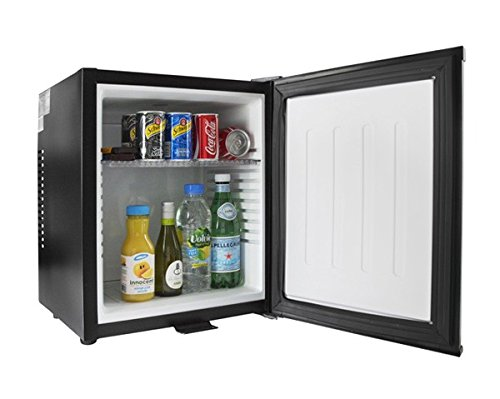 iceQ 24 Litre Deluxe Solid Door Black Mini Bar Fridge For Hotels, Bedrooms [Energy Class A]