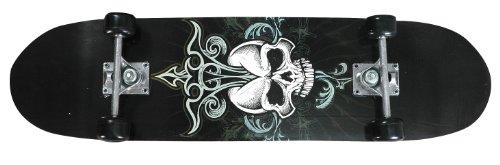 Youth Skateboard Skull Design Black, CPSC Standard