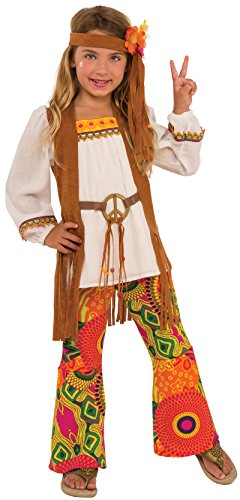 Hippie Flower Child Costume - Rubies Costume Child's Kid's Flower Costume, Medium, Multicolor