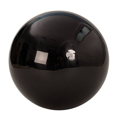 Mel O Design Decorative Ball Garden ornament Garden sphere black stainless steel Diameter 25 cm