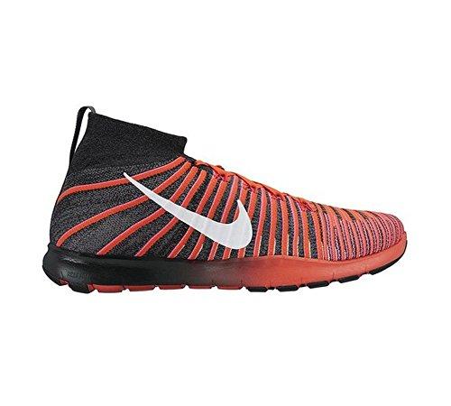 Nike Free Train Force Flyknit, Scarpe da Ginnastica Uomo Negro (Black / Drk Grey-wht-brght Crmsn)
