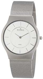 Skagen Slimline 233LSS - Reloj de caballero de cuarzo, correa de acero inoxidable color plata
