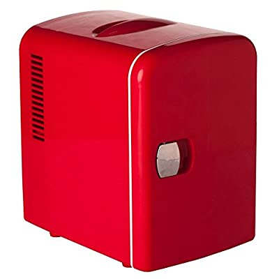 Generic 12V 110V Theremoelectric Breastmilk Fridge Storage Compact Refrigerator Beverage Car Cooler Warmer for Traveling and Camping,Red,4L