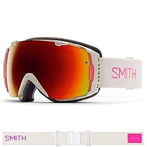 Smith Optics I/O Women's Interchangable Series Snow Snowmobile Goggles Eyewear - Bright Sands / Red Sol X Mirror / Large