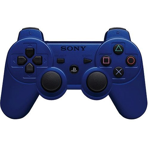 Playstation 3 Dualshock 3 Wireless Controller (Blue) (Certified Refurbished)