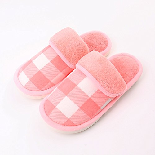 LaxBaMesdames Accueil Parole de chaussons moelleux agréable Cotton-Padded Shoespink 3839 semelle