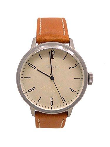 Tsovet SVT-CN38 Classic Men's Leather Watch CN111913-40 /Champagne w/ Black/Tan