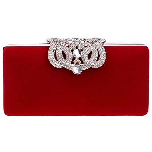 Chain Wallet Evening Bags Womens Party Bags Wedding Dress Purse Ladies Red Clutch T6FnRSq