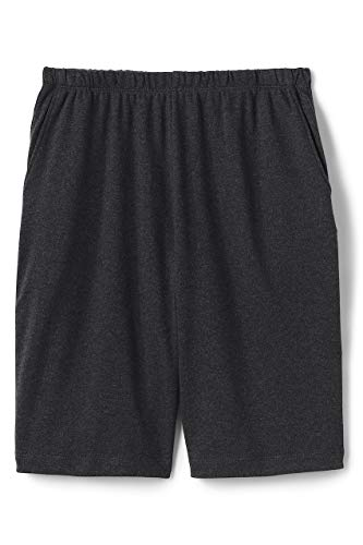 Lands' End Women's Plus Size Sport Knit Shorts Dark Charcoal Heather