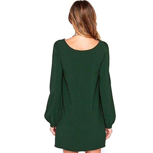 manga Verde larga diario de fiesta mujer sólido trabajo vestidos de OverDose de gqUzvz