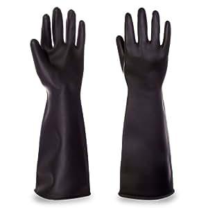 Marigold Industrial guantes guante de cocina para horno. Tamaño grande. Tela pesada de guante industrial de goma guantes de látex de anzuelos market Marigold - incluye TCH anti-bacterial bolígrafo!