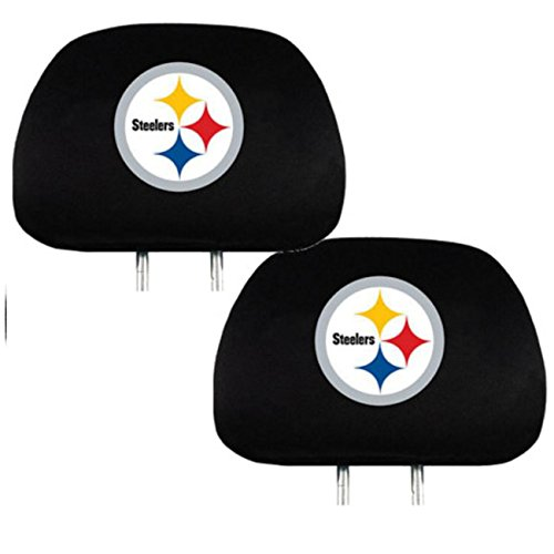 Official National Football League Fan Shop Authentic Headrest Cover (Pittsburgh Steelers)