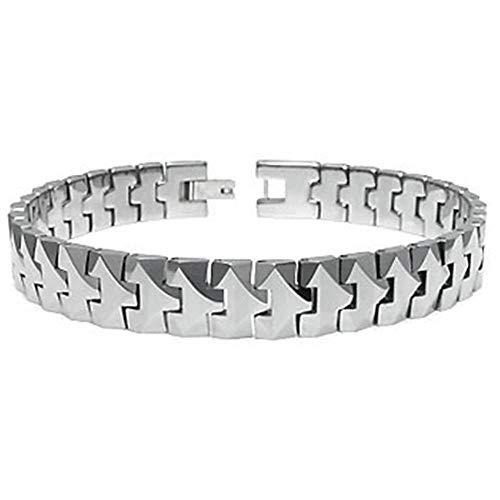 Titanium Kay Tungsten Carbide 10MM Men's Link Bracelet Sz 8.5