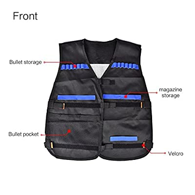 Walsilk Children Kids Tactical Vest Kit for Nerf Guns N-Strike Elite Series,Adjustable Elite Tactical Vest Jacket Kit,Perfect Gift for Kid Toy Play or Other Outdoor Activities