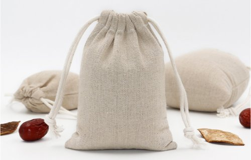 Set of 12 Cotton Bags, Double Drawstring Wood Color Reusable Linen Muslin Storage Pouches for Jewelry Tea Spices Herbs Fruits DIY Wedding Party Gift Bags (Large (8x10