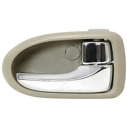 New Front Or Rear Right Passenger Side Interior Door Handle For 2000-2006 Mazda MPV Chrome Lever, Beige Bezel, With Chrome - Interior Mpv Mazda