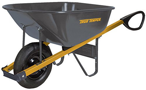 True Temper Wheelbarrows - The AMES Companies, Inc True Temper Total Control 6 Cubic Foot Steel Wheelbarrow - R6TC14
