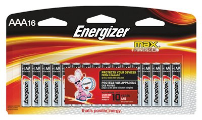 Eveready Battery E92LP-16 Alkaline Batteries, AAA, 16-Pk. - Quantity 12 by Eveready