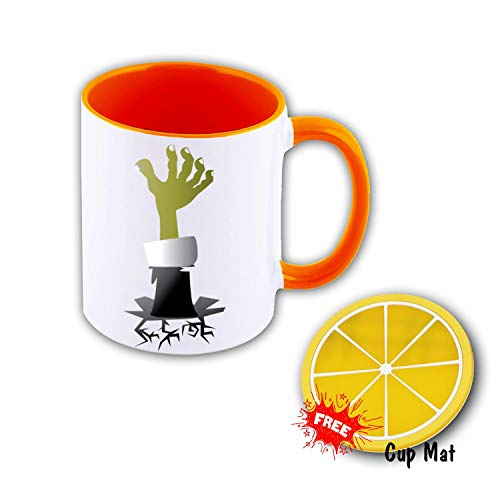 XheHe Coffee Mugs, Ceramic Tea and Coffee Mug Cup, Multi-color Inside - Halloween - Orange for $<!--$15.90-->