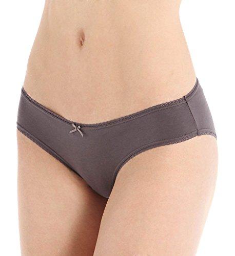 Eberjey Pima Goddess Low Rider Bikini Panty (A618X) S/M/Charcoal