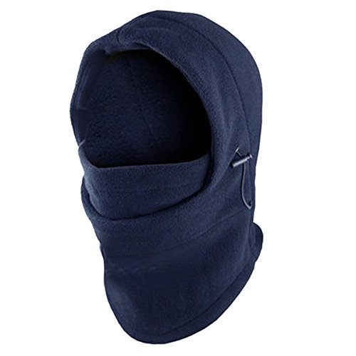 [Navy -Deluxe Adjustable POLAR FLEECE BALACLAVA Winter Hood Ski FACE MASK(US Seller)] (Easy Bane Costumes)