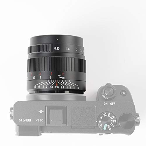 7artisans 35mm F0.95 Large Aperture APS-C Mirrorless Cameras Lens for M4/3 MFT,Compatible with Panasonic GF1 GF2 GF3 GF5 GF6 GF7 GF8 GF9 G1 G2 G3 G4 G5 G6 G85 GH1 GH4 GH5
