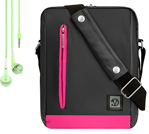 Adler 10.2 Shoulder Bag For Polaroid Tablets/M10, S8, PTAB750, PTAB1050, PMID920, PMID901, PMID80C + Handsfree Earphones