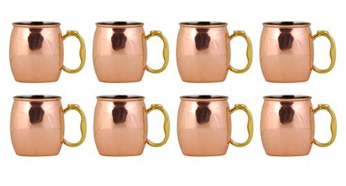 Oggi Moscow Mule Copper Mug, 20-Ounce, Set of 8 by Oggi