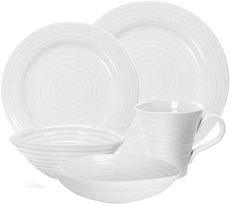 Portmeirion Sophie Conran White 20 Piece Dinner Set: Amazon.co.uk ...