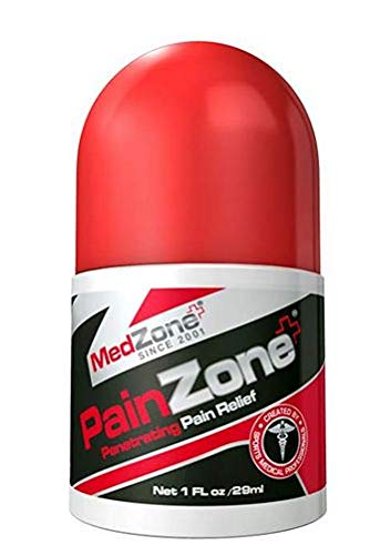 MedZone PainZone- Roll on Pain Relief with Menthol and Aloe Vera for Knee, Shoulder and Back Pain, Anti-Inflammatory, - Menthol Aloe Vera Pain Relief