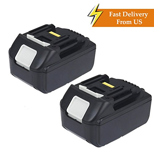 Bingogous 2-Pack 18V 5.0AH LXT Lithium-Ion Replacement Battery for Makita LXT-400 194204-5 BL1850 BL1840 BL1830 Cordless Power Tools