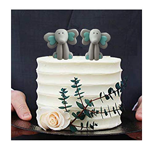 - Animal Baby Shower Decoration Cake topper for Baby Shower Birthday (Elephant)