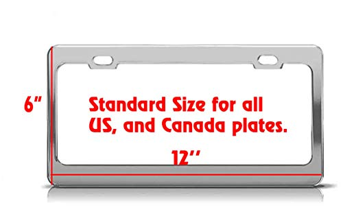 Product Express American Staghound Dog Paw Print License Plate Frame Tag Cover & Holder Black 4