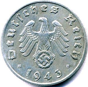 1940-1940, One Random Condition 1 Reichspfennig. WW2 Nazi Germany Zinc Coin Authentic WW2 Collectible. Comes with Certificate of Authenticity from Nikkiesavage (1 RP)