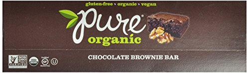 Pure Organic Chocolate Brownie Bar, Gluten-Free, Certified Organic, Non-GMO, Vegan,  Kosher, Plant Based Whole Food Nutrition Bar, 1.7 ounce (Pack of 12)