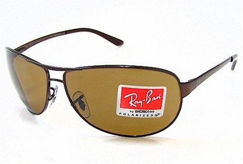 349702eddb2 Image Unavailable. Image not available for. Colour  RAY-BAN RAYBAN RB 3342  Warrior Brown 014 57 Polarized Sunglasses