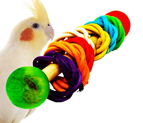 Bonka Bird Toys 1406 Vine Dumbell Rattle Foot Talon Toy Parrot Birds Toys Craft Part, Rabbit, Hamsters, Guinea Pig, Chinchillas, Squirrel Other Small Animals