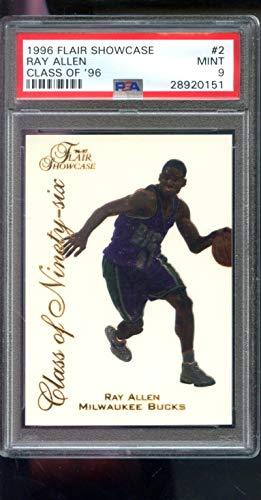 1996-97 Fleer Flair Showcase Class of Ninety-Six '96#2 Ray Allen ROOKIE RC Insert NBA MINT PSA 9 Graded Basketball Card