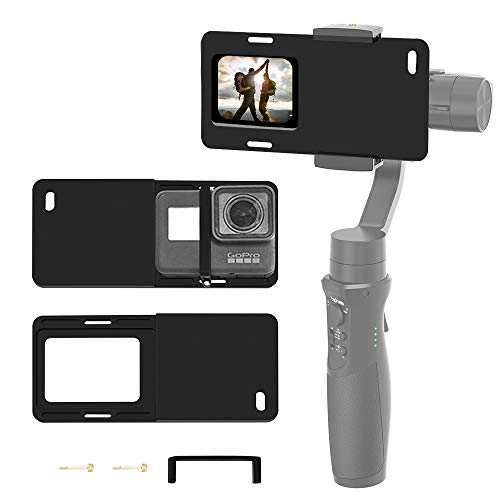 Hohem Action Camera Adapter for Smartphone Gimbal - Mount Plate GoPro Adapter for GoPro Hero 7 6 5 4 3+, Used on iPhone Gimbal, Hohem iSteady Mobile 2, DJI Osmo, Zhiyun Smooth 4 Q, etc.
