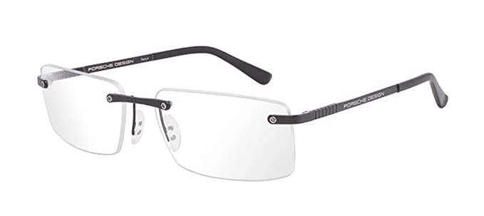 ebeb9a1da45 NEW Porsche Design P 8238 S1 A Matte Black Eyeglasses  Amazon.co.uk   Clothing