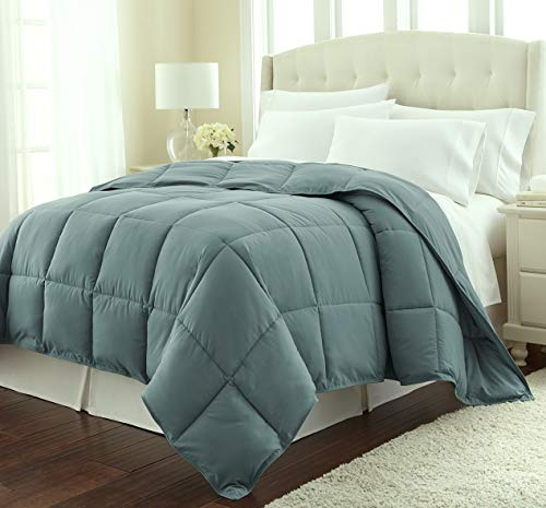 Hemau Premium New Soft Southshore Fine Linens - Vilno Springs - - Down Alternate Weight Comforter - Steel Green - Full/Queen   Style 503194397