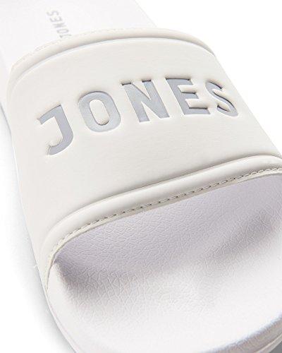f25488a2597f8 ... JACK   JONES Herren Jfwlarry Pool Slider Bright White Geschlossene  Sandalen Weiß (Bright White Bright