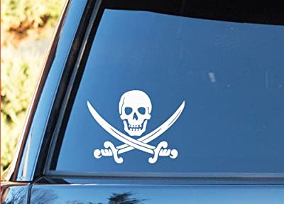 Calico Jack Pirate Vinyl Decal - SELECT SIZE