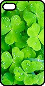 Irish Shamrock Lucky Green Clovers Black Rubber Case for Apple iPhone 5 or iPhone 5s